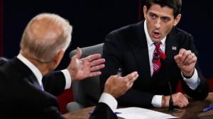 Paul Ryan (R) und US-Vizepräsident Joe Biden während der TV-Debatte 2012.
